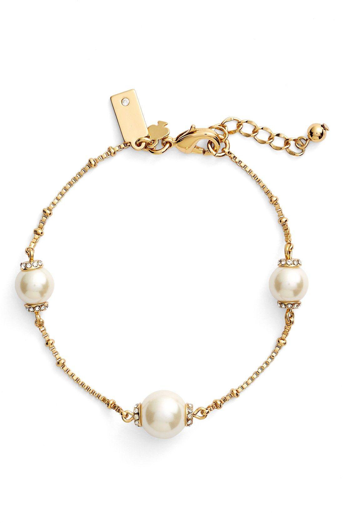 'pearls Of Wisdom' Faux Pearl Bracelet