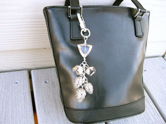 Silver Pinecones and Jingle Bells Purse Jewelry by OneSimpleGift, $15.00