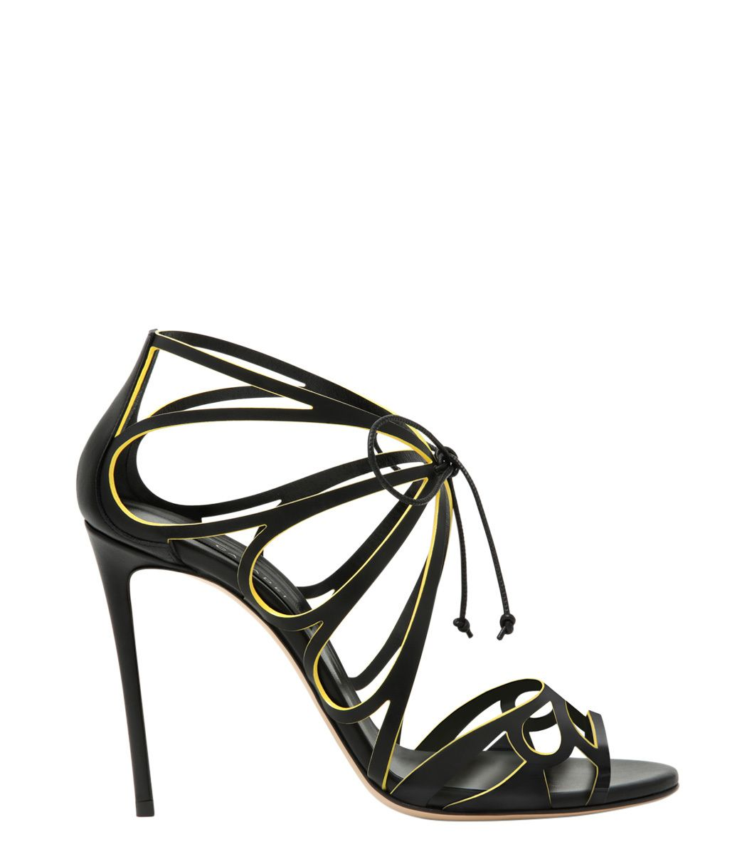 Casadei Black Strappy Sandal