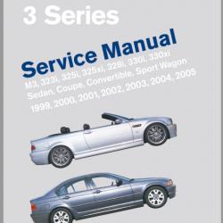 BMW 3 Series M3, 323i, 325i,325xi, 328i, 330i, 330xi sedan, coupe, convertible, Sport Wagon Year 1999 - 2005 Service Manual
