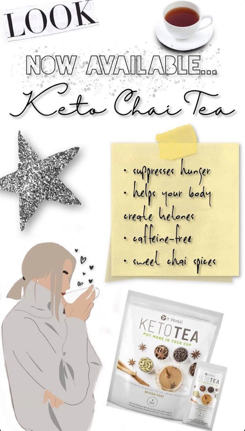 Can't wait to try this tea the keto coffee helped me loose