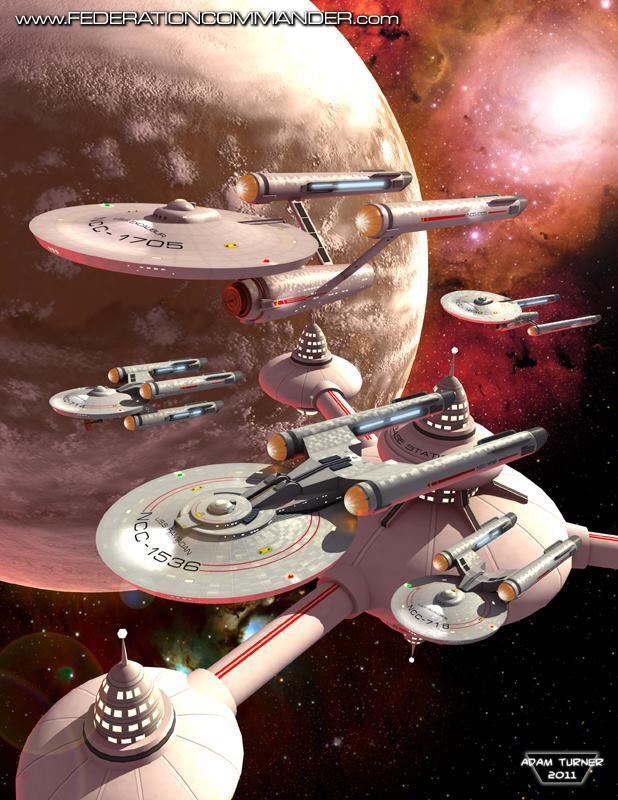 Various ships from Star Trek. #sciencefiction #startrek