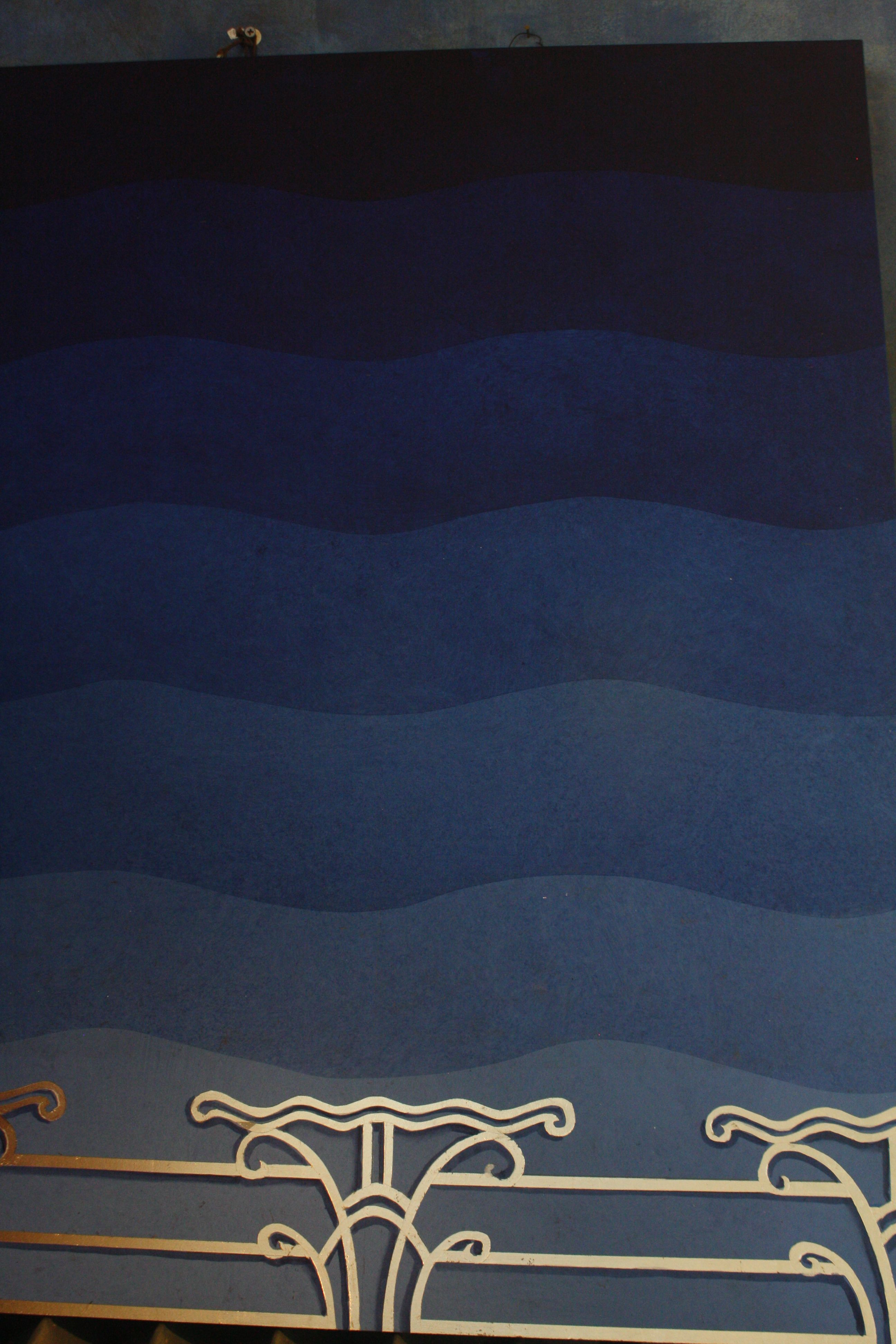 Design sample for our custom designed and hand-painted, Art Deco Vaulted Ceiling