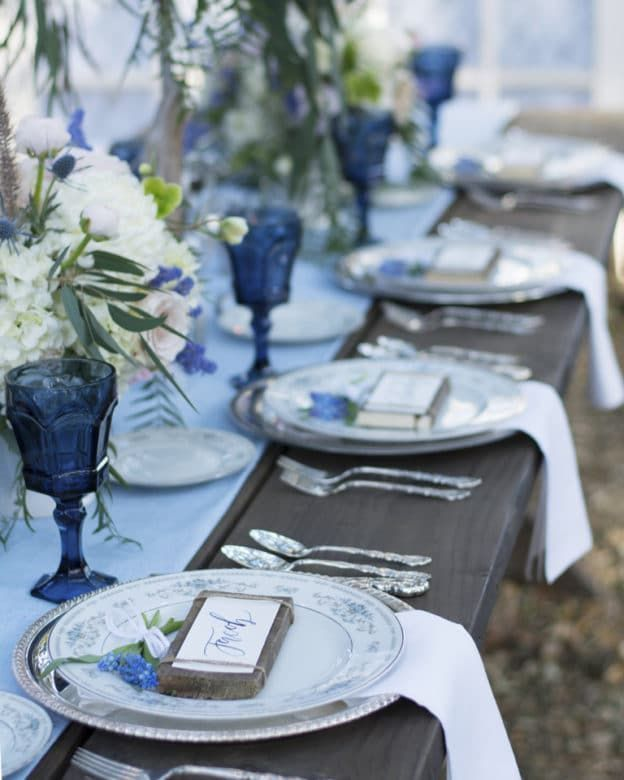 Blue Wedding Ideas Themes: Country Blue Wedding Inspiration