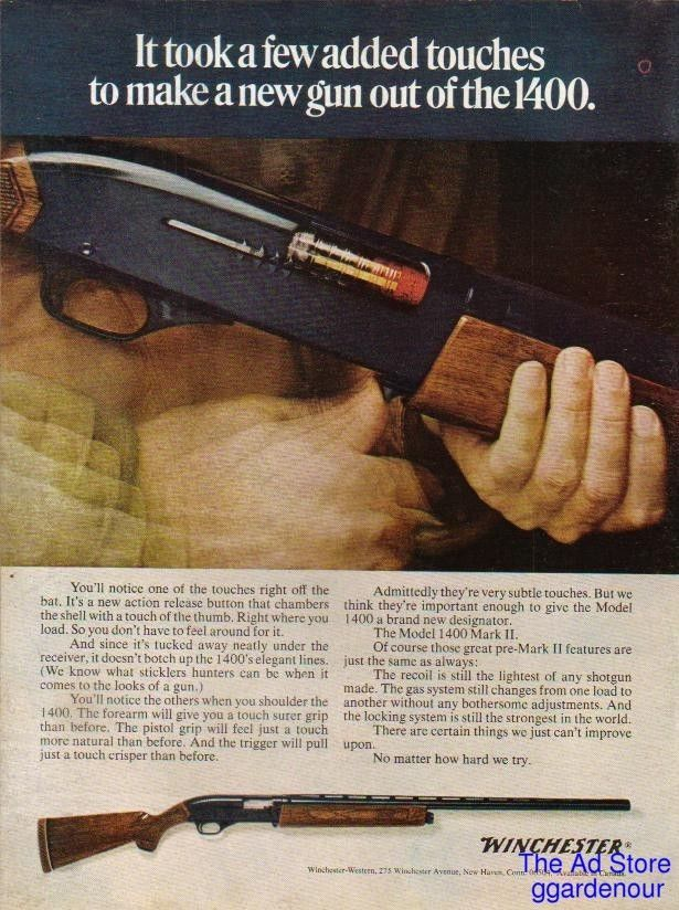 1969 Winchester Model 1400 Mark II Shotgun~gun photo Ad Vintage
