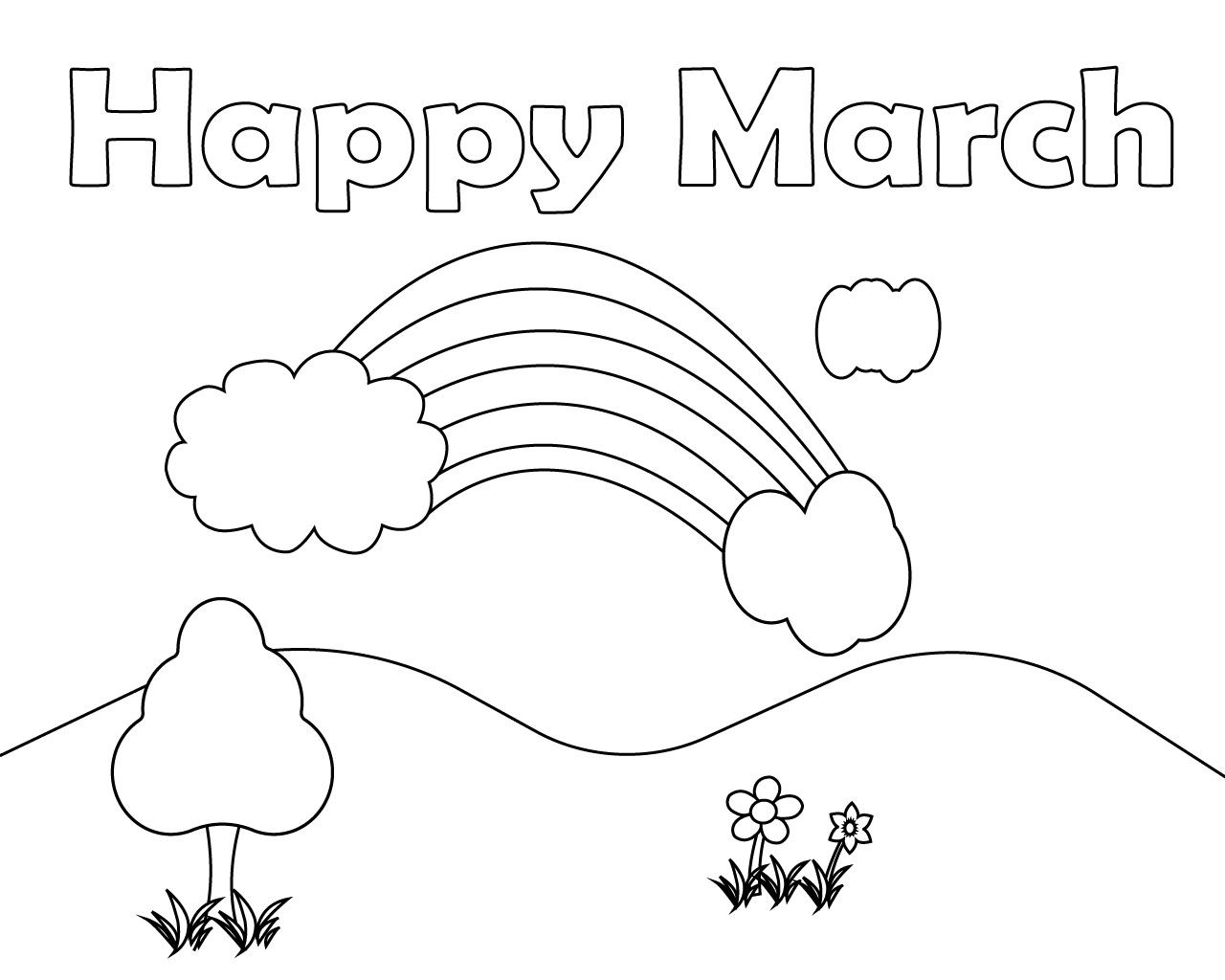 Free Printable March Coloring Pages For Kids Coloring Pages