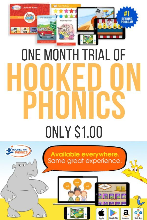 Try Hooked On Phonics For Only 1 00 Hooked On Phonics Phonics