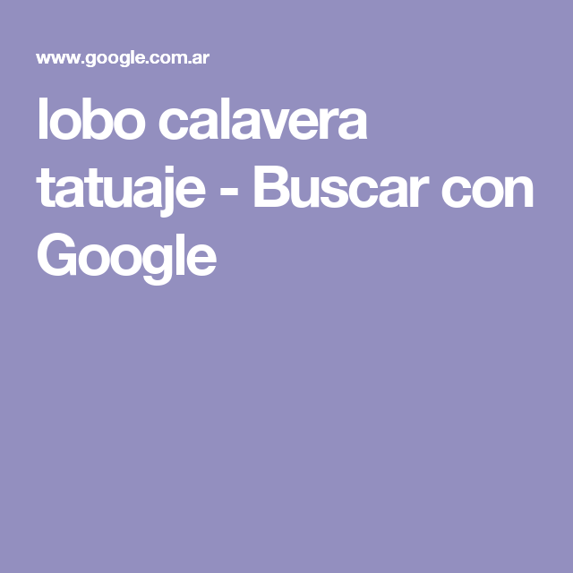 lobo calavera tatuaje - Buscar con Google