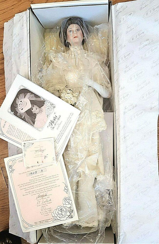 18 Roman FLORA The 1900's BRIDE DOLL COA BOX Porcelain Collector Ellen Williams #Roman #bridedolls