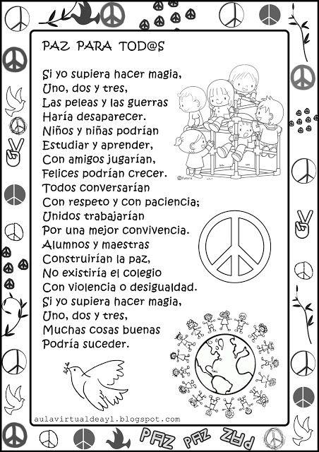 Aula Virtual De Audición Y Lenguaje Poemas De La Paz Poesia De La Paz Catedra De La Paz Dia De La Paz