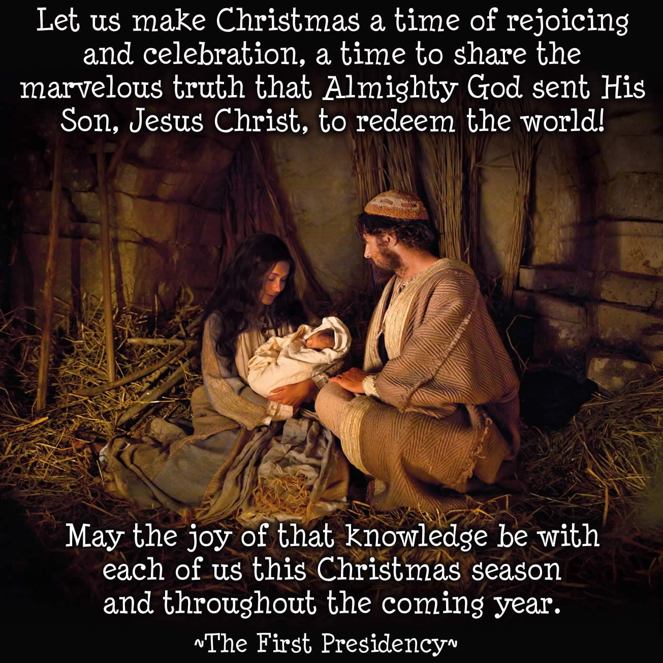 "A wonderful Christmas message from the First Presidency. ""Fear not ..."