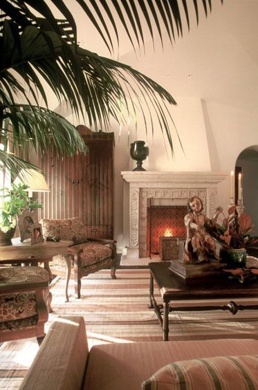 SpanishColonial Cottage Living Room Understated Elegance Stone Fireplace The Creepy Doll Needs To Go Mediterranean House