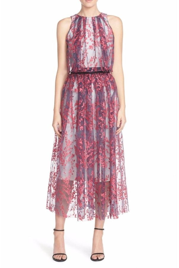 Sachin & Babi Sleeveless Cattleya Tea Length Dress