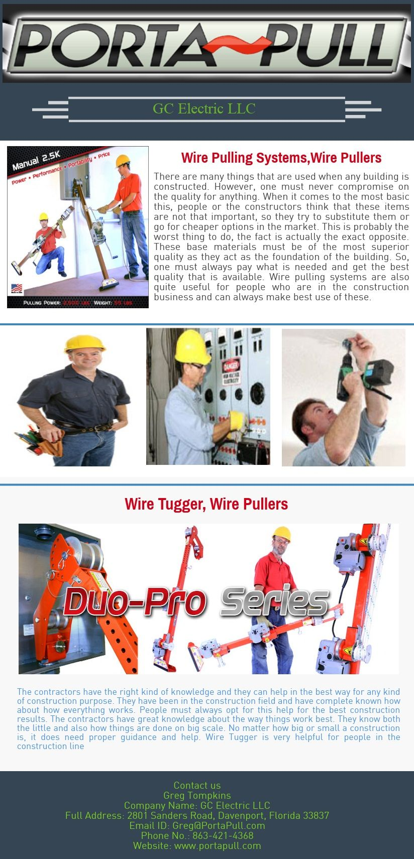 Purchase Online Tools for Electrical Contractors | Wire Pulling ...