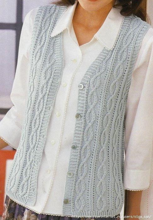 Clásico chaleco. | Knits To Make | Pinterest | Vest pattern ...