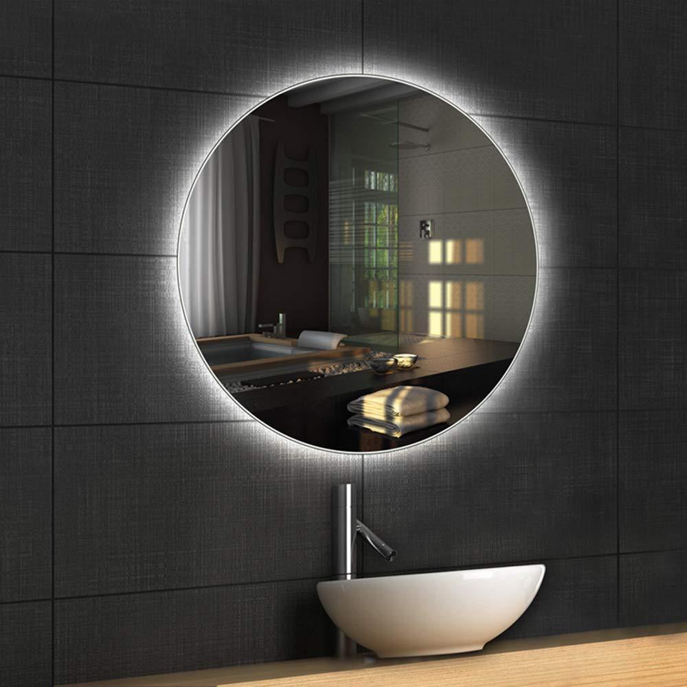Mirror Badezimmerspiegel Led Rund Rahmenlos Hinterleuchteter Led Lichtspiegel Waschbecken Runder Badez Badezimmerspiegel Badezimmerspiegel Led Waschbecken Rund