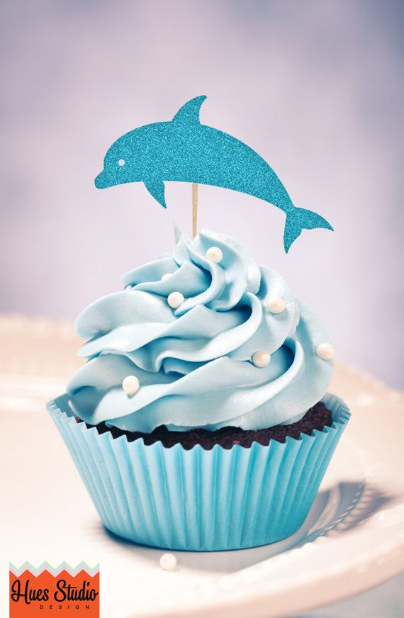 Pin by Katy Shippey on Cupcakes Pinterest Etsy Dolphin party