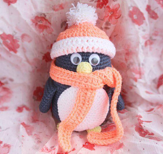 582db134bb0 crochet penguin handmade toys baby shower gift soft toy penguin toy crochet  amigurumi