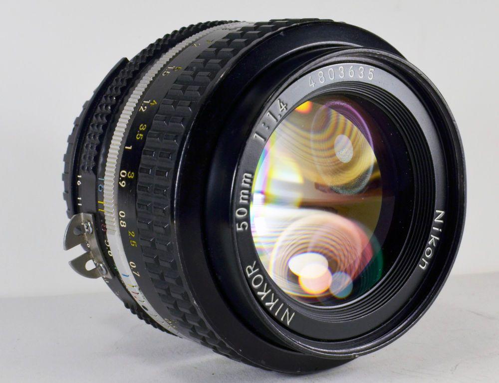 Nikon Nikkor 50mm 1 1 4 Ai Prime Camera Lens Manual Focus Manual Focus Vintage Cameras Camera Lens