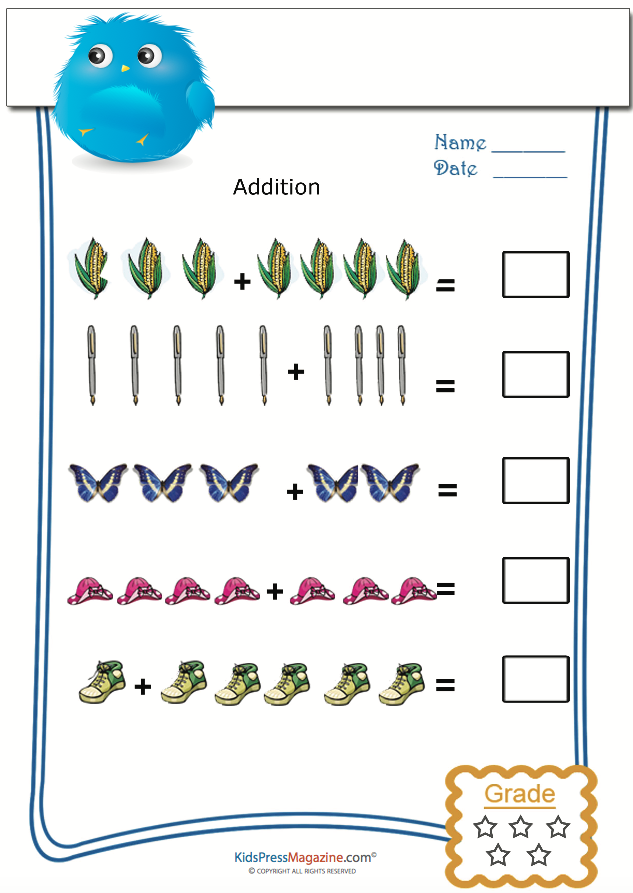 Addition With Picture Practice Kidspressmagazine Com Fun Math Learning Math Maths Puzzles