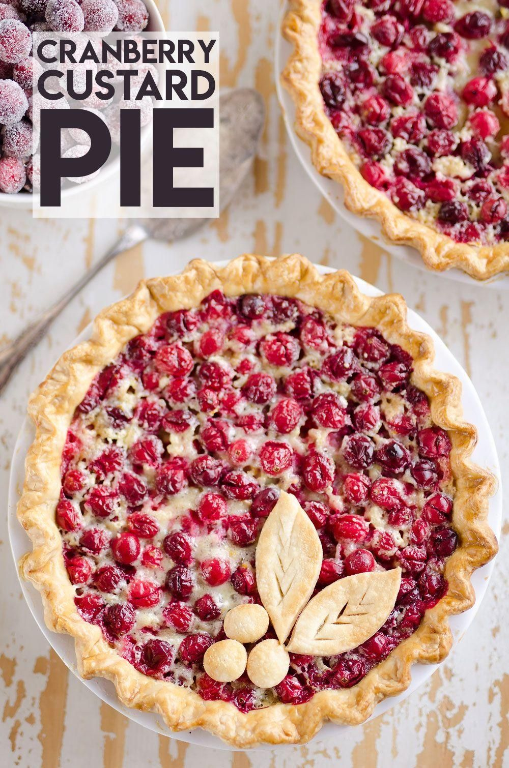 Cranberry Orange Custard Pie is a unique fall dessert recipe to add to your holi... - Heirloom Pies