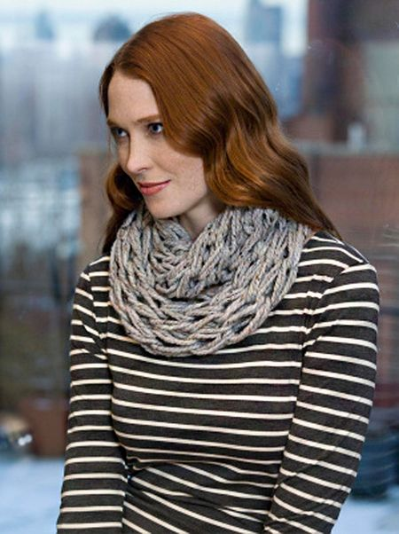 Quick Arm Knit Cowl Free Knitting Pattern Craftfoxes Christmas