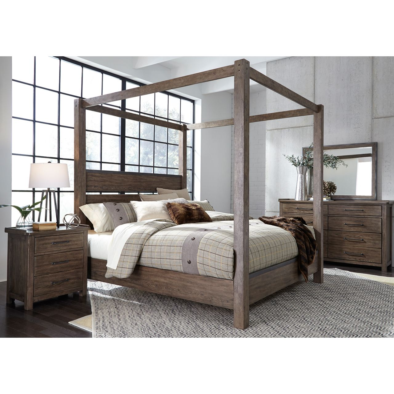 Sonoma road canopy bed Queen canopy bed, Bed, King bedroom