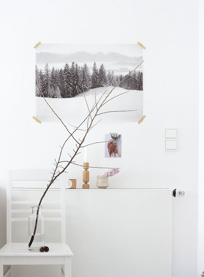 Marvelous Wandgestaltung Im Arbeitszimmer Im Winter 2014 Awesome Design