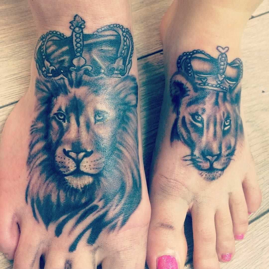 Lion And Lioness Tattoo Related Keywords Amp Suggestions Lion