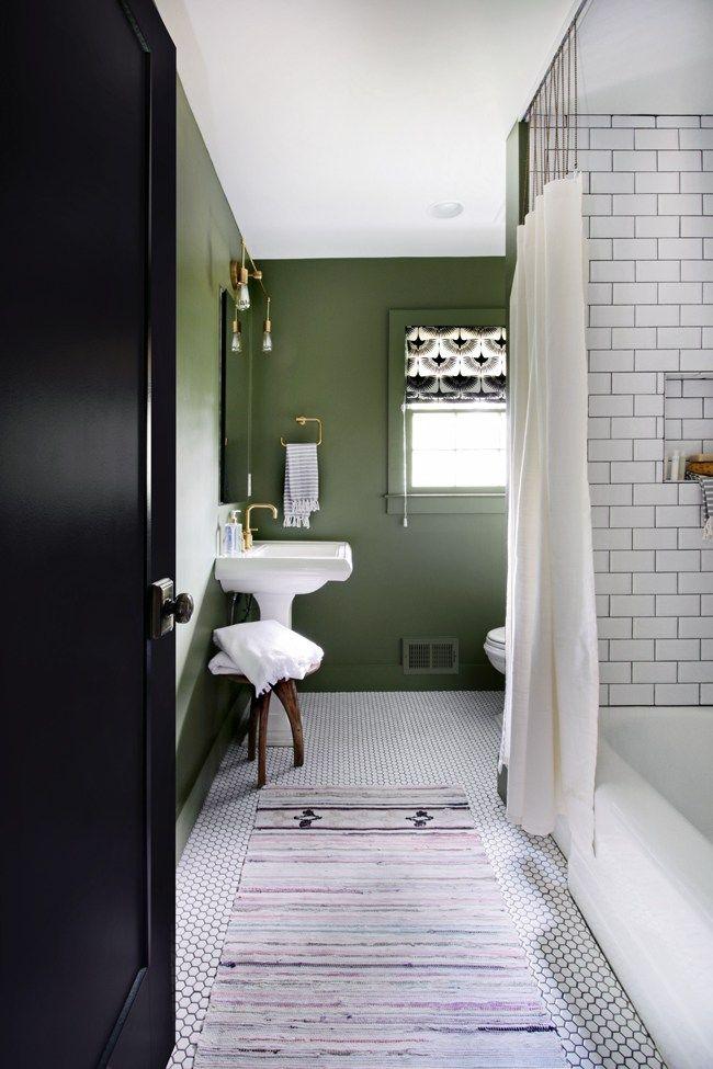 Predicting Color Trends For 2017 Green Bathroom Dark Green Bathrooms Green Bathroom Paint