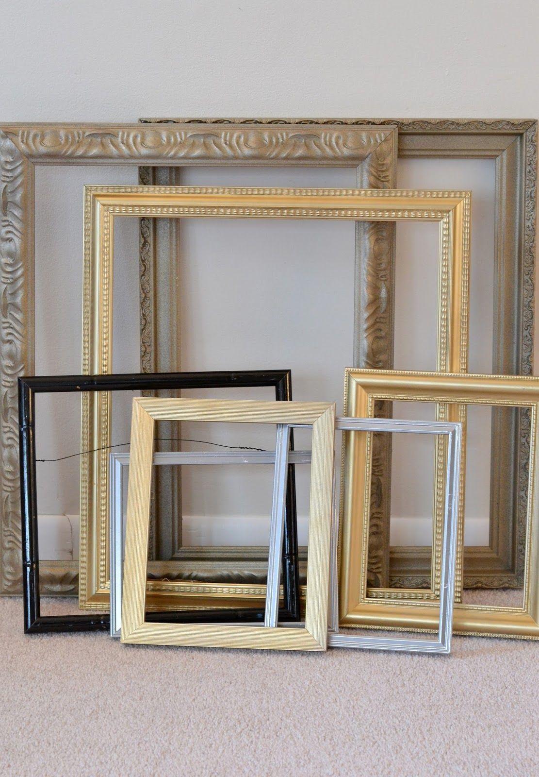 marcos para pinturas espejos dorados plateados negros con borde planos