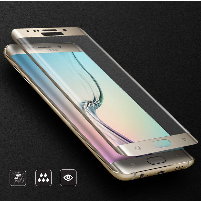 S 6 Edge Premium Color Gold Screen Protection Glass Tempered For Samsung Galaxy S6 Edge G9250 Screen Protector Fu Samsung Samsung Galaxy Samsung Galaxy S7 Edge