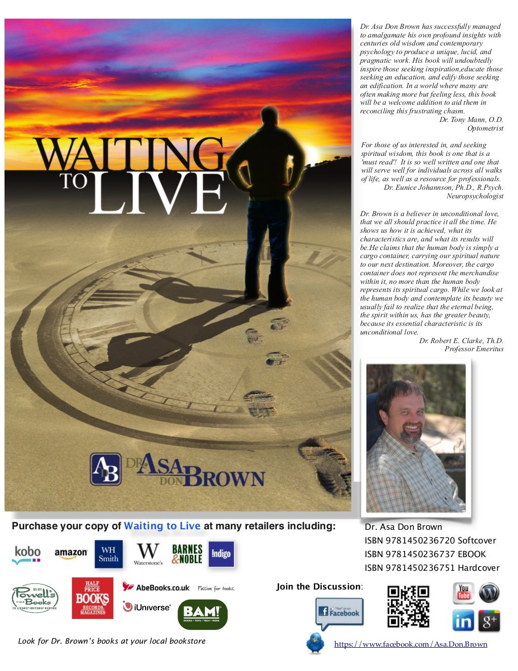 Waiting to Live Poster by Dr. Asa Don Brown via slideshare
