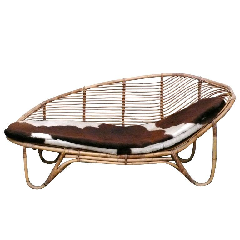 Chaiselongue rattan  Rattan Chaise Lounge | From a unique collection of antique and ...