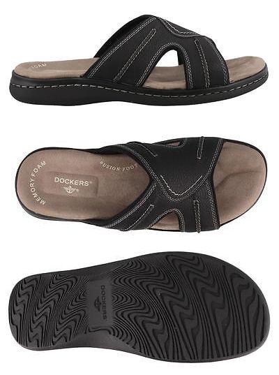 323af9013fcd9d Sandals and Flip Flops 11504  Dockers Sunland Sandals Leather Mens Slide  Shoes Low Heel -  BUY IT NOW ONLY   39.95 on eBay!