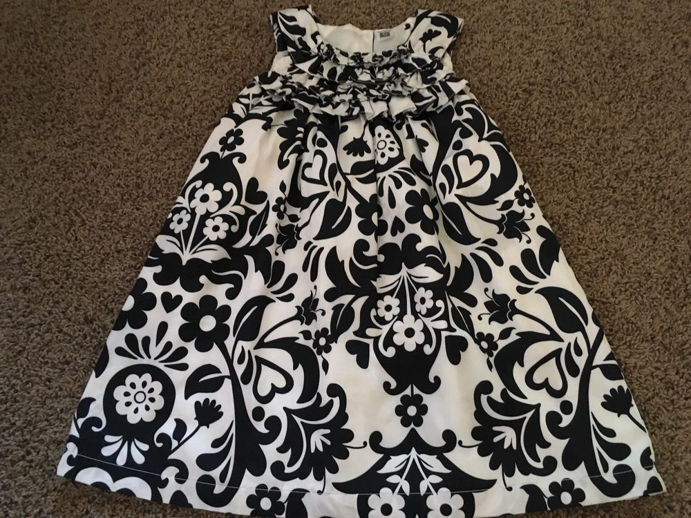 Carters Black White Dress Size 5T #fashion