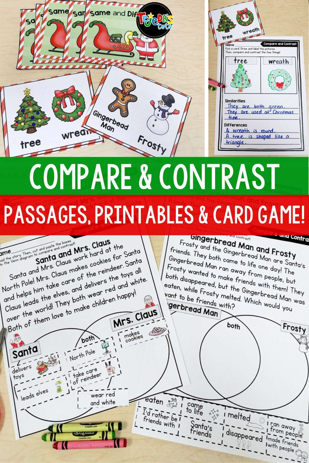 Christmas Compare And Contrast Passages Printables Christmas Reading Comprehension Compare And Contrast Winter Holidays Activity [ 1500 x 1000 Pixel ]