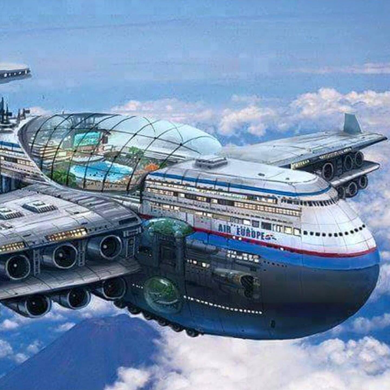 Future airplane. | Футуризм, Роскошные яхты, Ретро футуризм