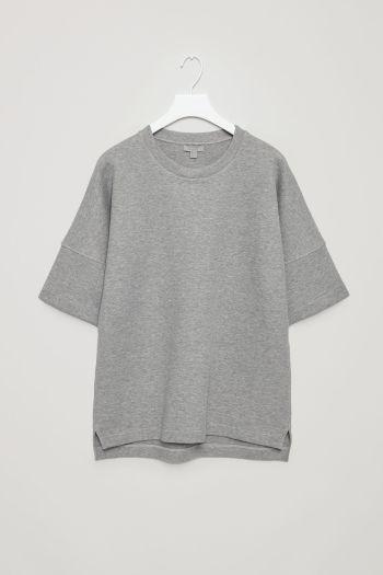 COS image 2 of Oversized short-sleeve sweatshirt in Grey | Costume ...