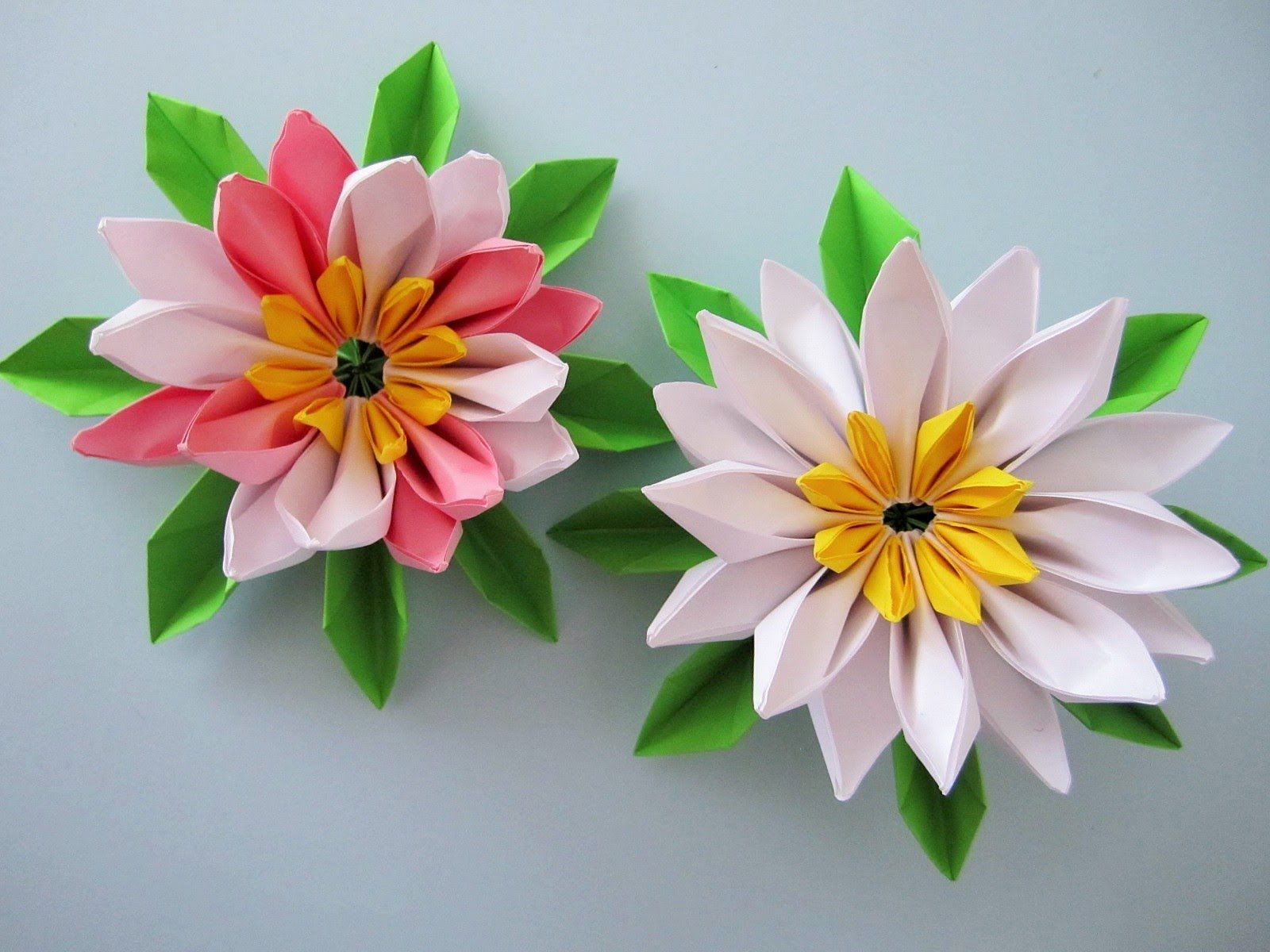 Seerosen Aus Notizblock Papier Falten Origami Flowers Pinterest