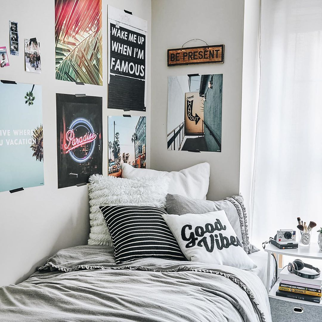 Posters Are An Easy Way To Decorate Your Dorm Room Walls Without