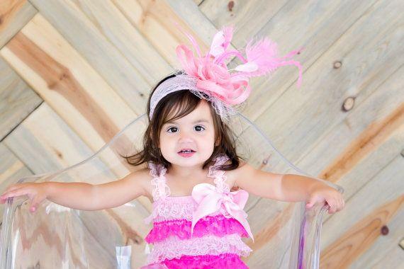 017e7152a Toddler fascinator baby little girl s fascinator tea party hat ...