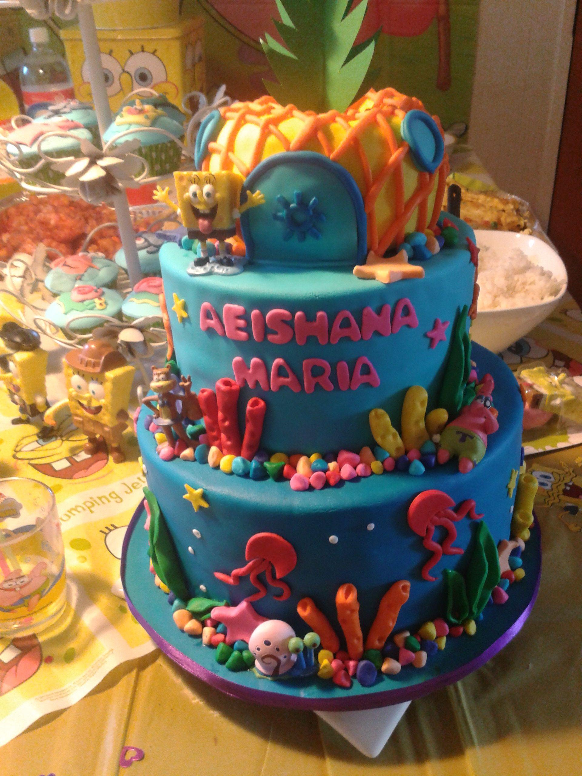My girls spongebob birthday cake Spongebob birthday cake