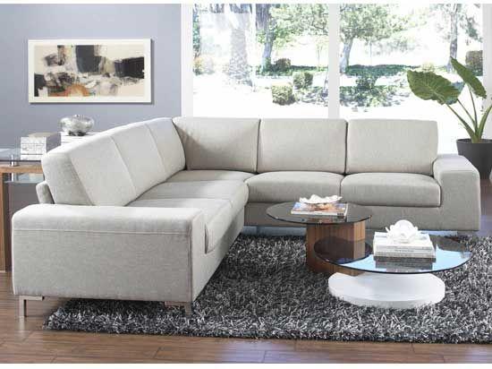 Oregon Sectional Khaki Leather Sectional Sofas