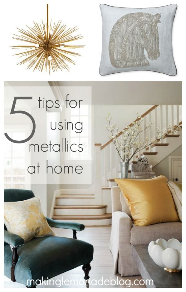 mixed metallics home decor how to mix gold silver copper and bronze for - Gold Home Decor