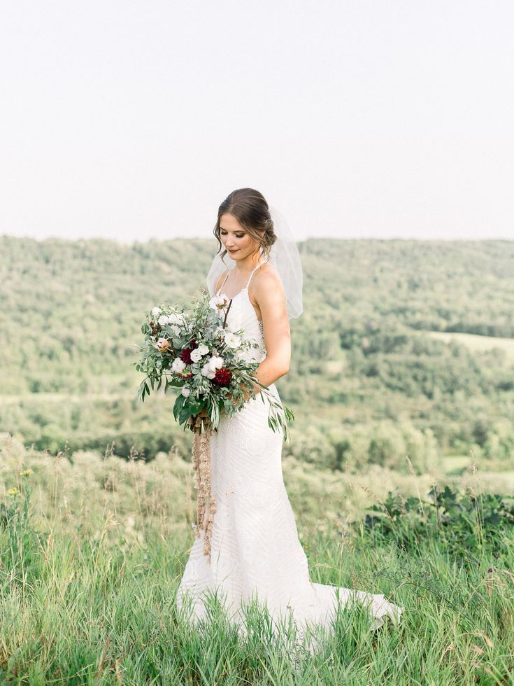 Rustic Boho Farm Wedding #bridalportraitposes