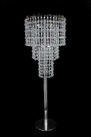 30 tall crystal like beaded chandelier wedding centerpiece 30 tall crystal like beaded chandelier wedding centerpiece aloadofball Choice Image