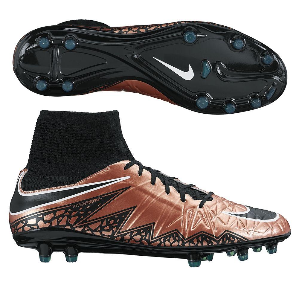 Nike hypervenom phatal ii df fg soccer cleats metallic