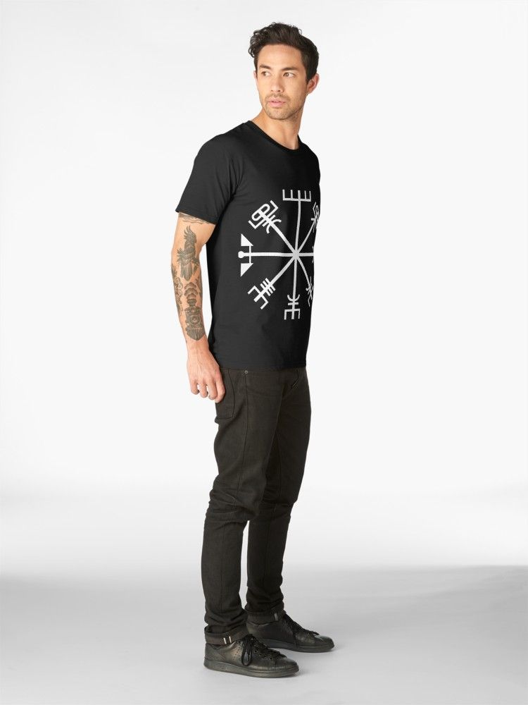 94a9652db Björk Tattoo - Vegvísir | Slim Fit T-Shirt in 2019 | Music shirts ...