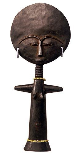 Handcrafted in Ghana African Akuaba Face Table